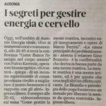 Dal Piccolo di Trieste: I segreti per gestire energia e cervello – Incontro con Fulvio Kavrecic – Ausonia Energia Vitale