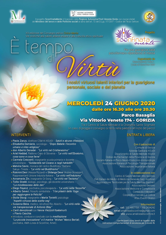 """Convegno 24 Giugno """"E' tempo di Virtù"""" – Parco Basaglia, Gorizia"""