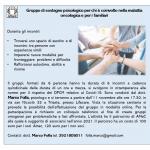 Gruppo di sostegno psicologico per chi è coinvolto nella malattia oncologica e per i suoi familiari